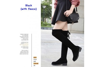 Fashionhomez 7934 High Knee Boots (with fleece / without fleece) - size 35-41 - Plus Size