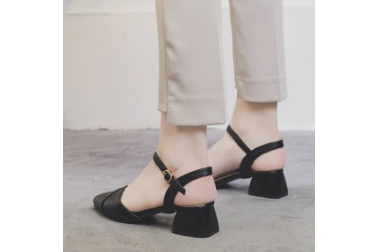 Fashionhomez 8088 Katty Pointy Strappy Mid Heel ( size 35-40 )
